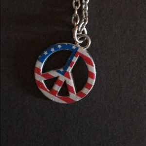 Jewelry - Peace, Love, USA Necklace